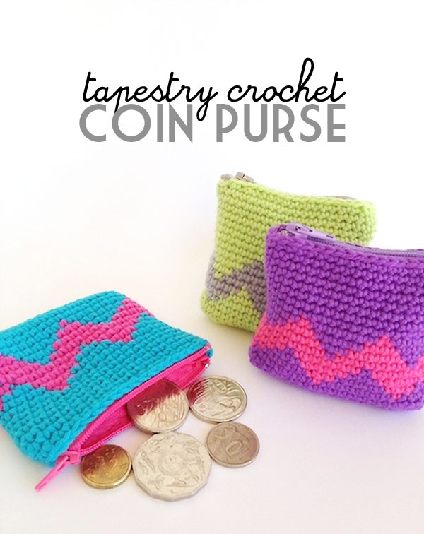 Tapestry Crochet Coin Purse Tutorial
