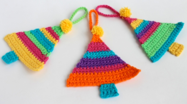 Crochet Christmas Tree Decorations by Poppy & Bliss