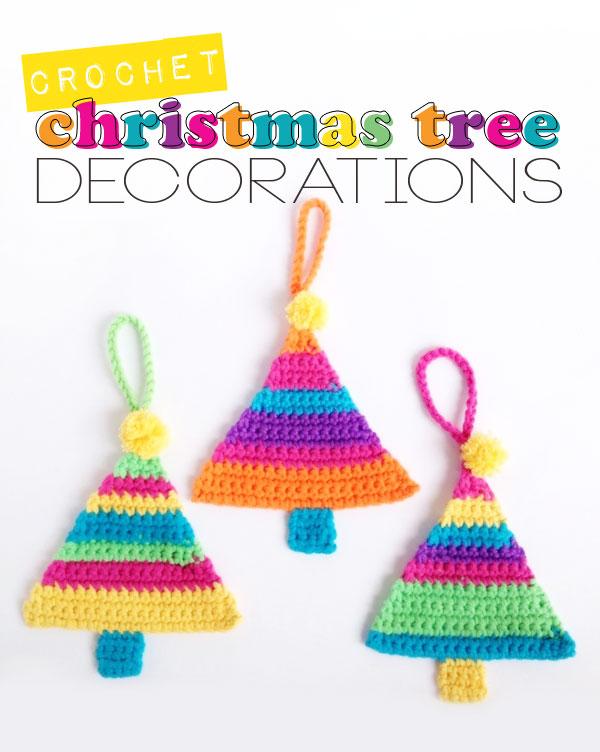 Free Crochet Pattern Christmas Tree Decorations : Crochet Christmas Tree Decorations poppyandbliss