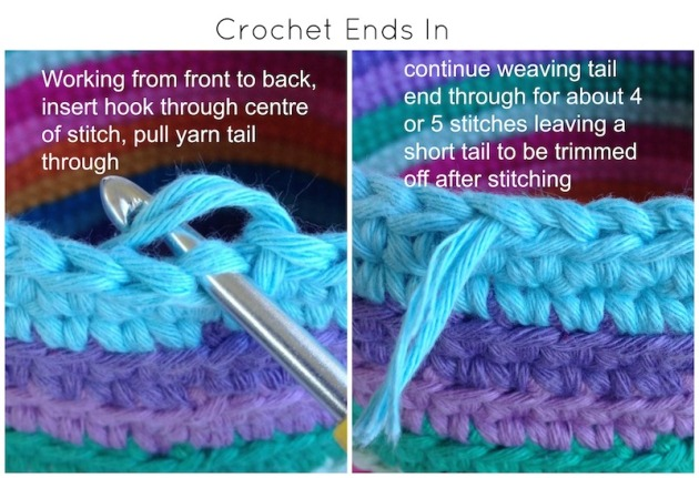 crochet ends in tutorial