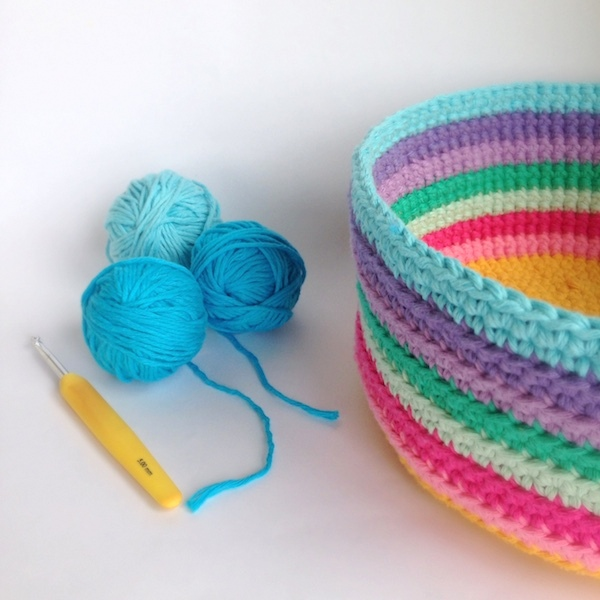 Crochet Basket Diy Poppyandbliss