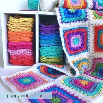 Solid Granny Square Poppyandbliss