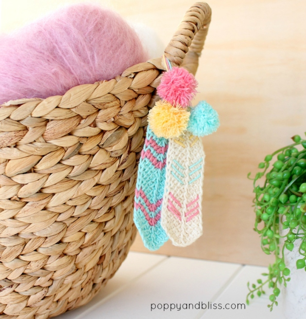 Tunisian crochet feathers free pattern