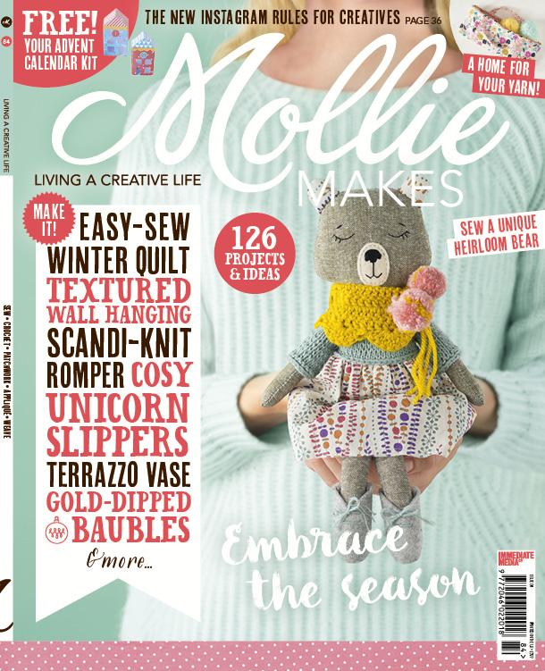 Herringbone Cushion pattern - Mollie Makes issue 84