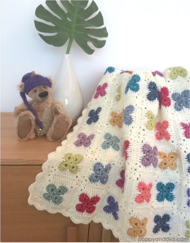 Fleur Baby Blanket by poppyandbliss.com